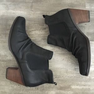 Paul Green Black Suede Chelsea Ankle Bootie